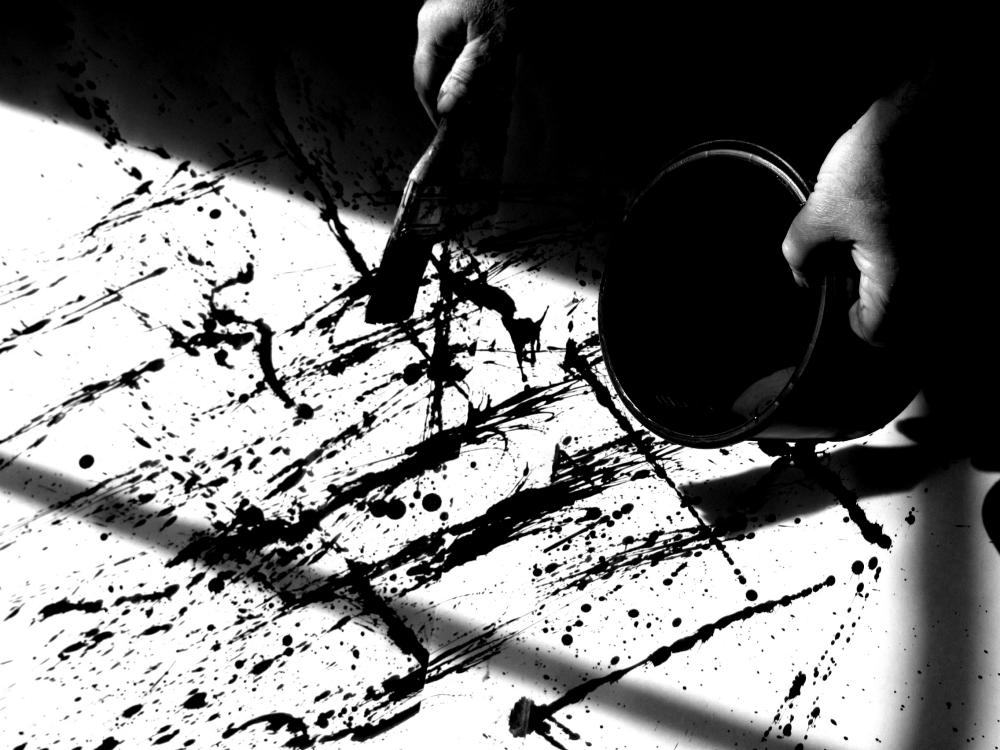 Jackson Pollock Painting Process