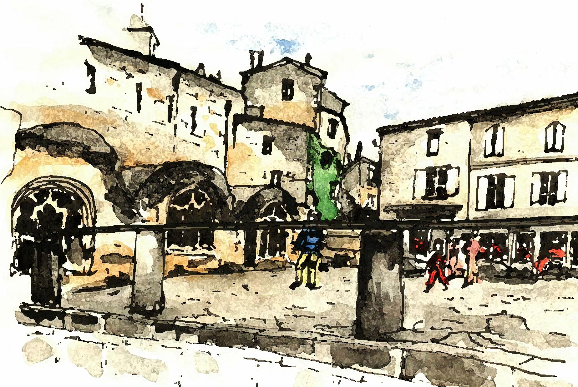St Emilion village square