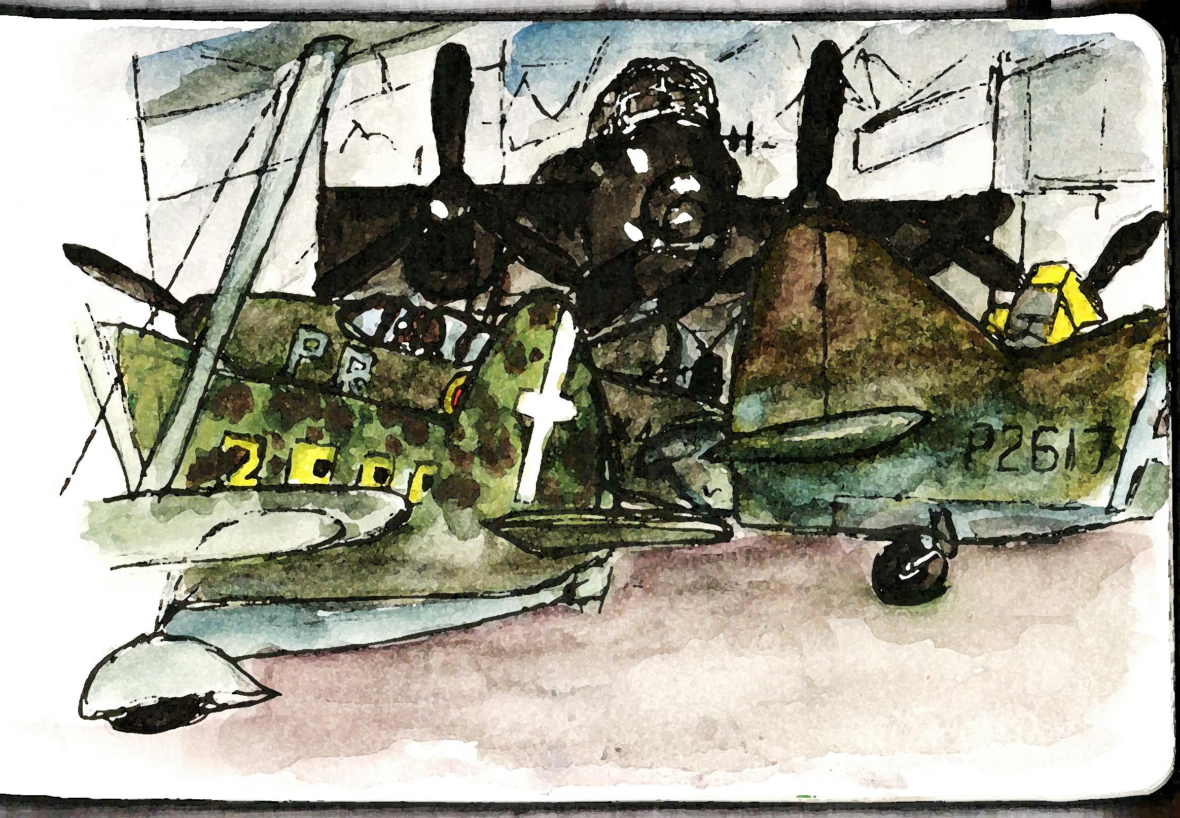 RAF Hendon - a snap sketch